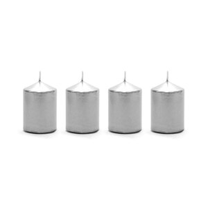 VELA DECORATIVA 4PCS PLATA 91588P